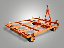 Containeranhänger mit Zweirad-Achsschenkellenkung