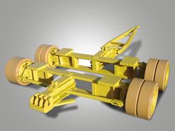 Achsaggregat mit Zweirad-Achsschenkellenkung