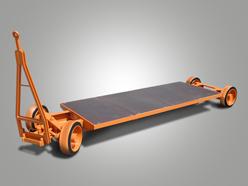 Niederplattformanhänger mit Zweirad-Achsschenkellenkung