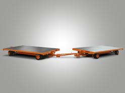 Plattformanhänger mit Vierrad-Achsschenkellenkung