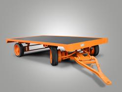 Plattformanhänger mit Zweirad-Achsschenkellenkung