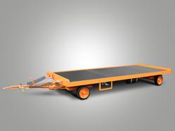 Plattformanhänger mit Druckluftbremse und Doppel-Drehschemellenkung