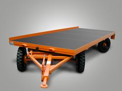 Plattformanhänger mit TÜV-Abnahme für Straßenzulassung und Drehschemellenkung