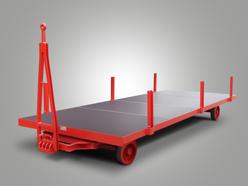 Plattformanhänger mit Einsteckrungen und Drehschemellenkung